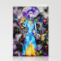 day of the dead Stationery Cards featuring Day Of The Dead by Serena Gailey