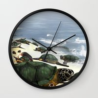 turtles Wall Clocks featuring Turtles by nicky2342