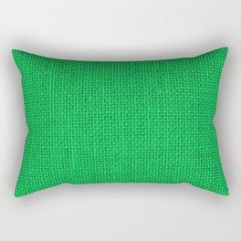 Natural Woven Neon Green Burlap Rectangular Pillow