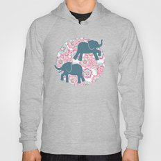 Tiny Elephants in Fields of Flowers Hoody