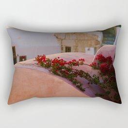 Flowers on Fire Rectangular Pillow