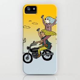 On the freedom experienced by Desert Bike Harpies.   iPhone Case