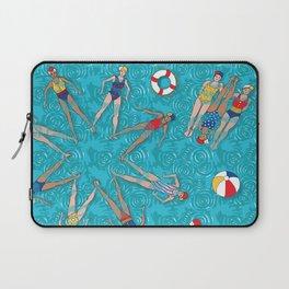 Aqua Girls & Water Swirls Laptop Sleeve