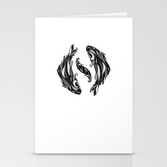 Signs of the Zodiac - Pisces Stationery Cards