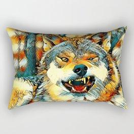 AnimalArt_Wolf_20170606_by_JAMColors Rectangular Pillow