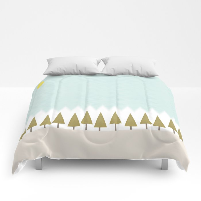 The Forest in Winter Comforters