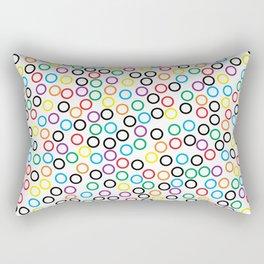 Rainbow Dots Rectangular Pillow