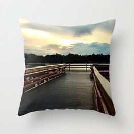 Watson Bayou Pier Throw Pillow