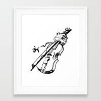 violin Framed Art Prints featuring Violin by Azure Cricket
