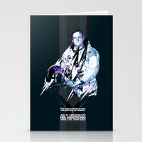 neil gaiman Stationery Cards featuring Neil Armstrong Tribute by Largetosti
