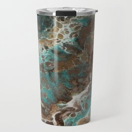 Water Flow, Abstract Acrylic Flow Art Travel Mug