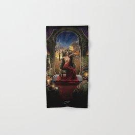 XI. Justice Tarot Card Illustration (Color) Hand & Bath Towel