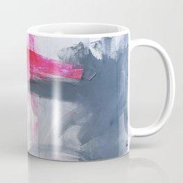 """Love Story no 3"" Pink Grey White & Black Abstract Painting Coffee Mug"