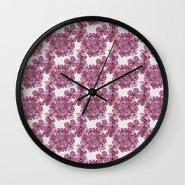 Hydrangea Pink Wall Clock