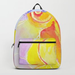 Lady Autumn Watercolor Art Nouveau Gold Backpack