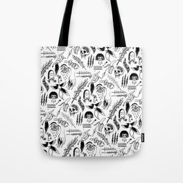 Death Lily Tattoo Flash Print Tote Bag