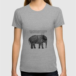 Buddha Quote with Henna Elephant T-shirt