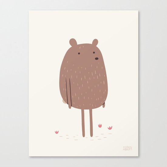 There Bear Canvas Print