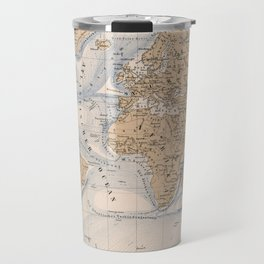 Vintage Map of The World (1884) Travel Mug