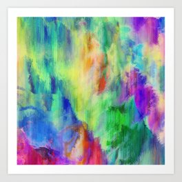 Paint Grunge Art Print