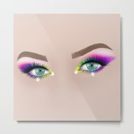 Rainbow Make-up Metal Print