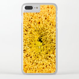 Teddy Bear Sunflower Petals Clear iPhone Case