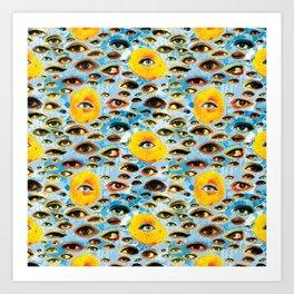 Eyes (Cue the Peaches) Art Print