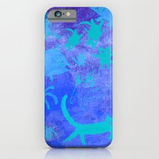 blue cats in space iPhone 6s Slim Case