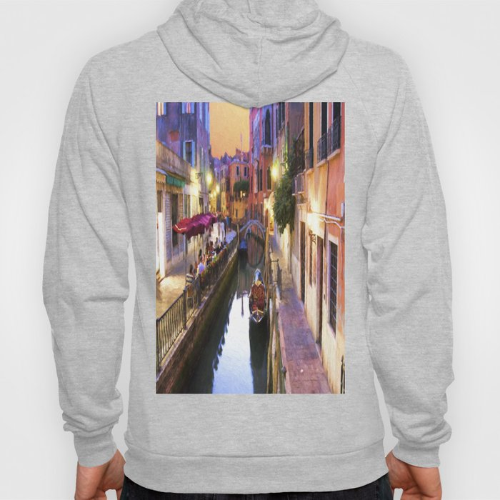 Sunset Alley In Venice Italy Hoody