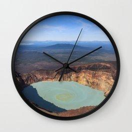 Stratovolcano Maly Semyachik, Kamchatka Wall Clock