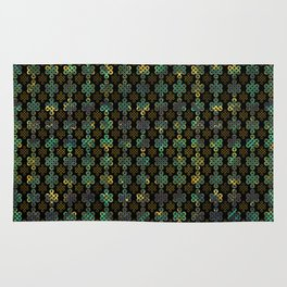 Endless Knot Pattern - Gold and Marble Rug