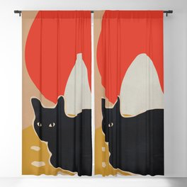Cat Blackout Curtain