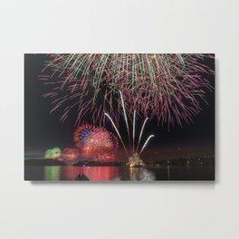 Fireworks on Sydney Harbour Metal Print