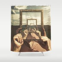 frame Shower Curtains featuring Empty Frame by Seamless