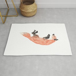 Les Animaux: Red Fox Rug