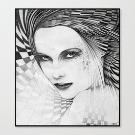 Madame y est Canvas Print