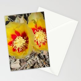 Prickly Pear Twin Blooms Stationery Cards