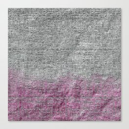 Textured Silver Ultra Two Toned Abstract Canvas Print