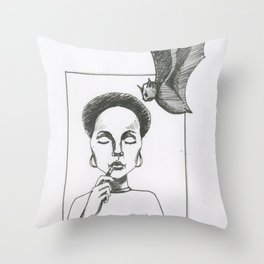 Here Comes The Bat Throw Pillow
