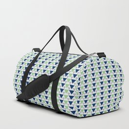 Earth color triangles pattern Duffle Bag