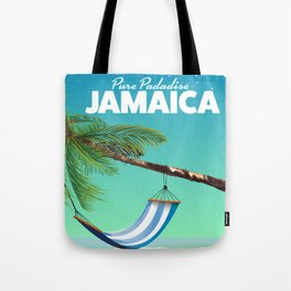 'Pure Paradise' Jamaica travel poster Tote Bag