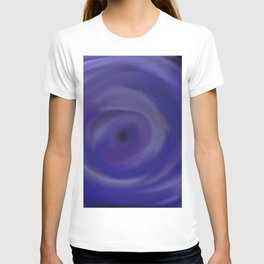 The Sound Of Blue - Abstract smooth, silky, whirlpool blue painting T-shirt