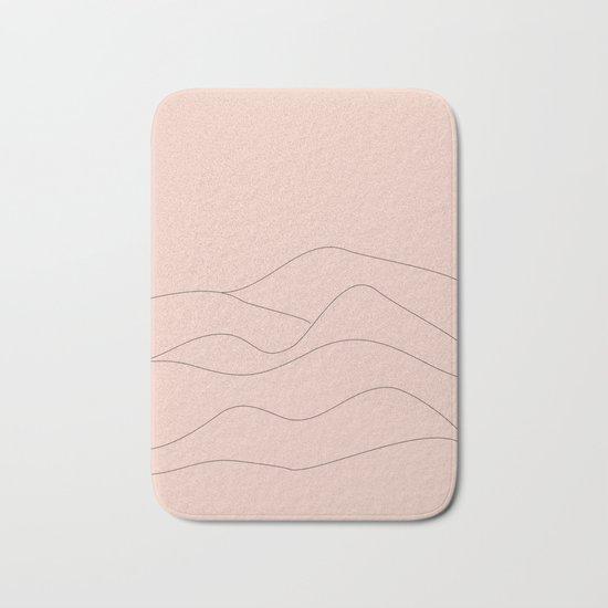Pink Mountains Minimal Bath Mat