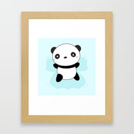 Kawaii Panda Snow Angel Framed Art Print