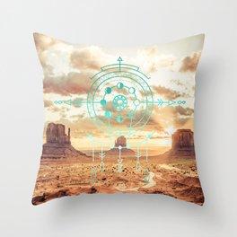 Mandala Desert Dawn Throw Pillow