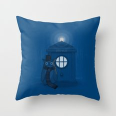 Dr Who Who? Throw Pillow
