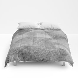 Messy Triangles Comforters
