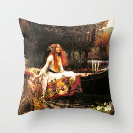 The Lady of Shalott Remastered Throw Pillow