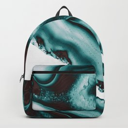 Turquoise Brown Agate #1 #gem #decor #art #society6 Backpack