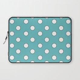 Blue Pastel Polka Dots Laptop Sleeve